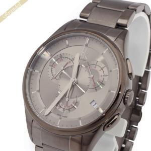 カルバンクライン Calvin Klein メンズ腕時計 CKベーシック クロノグラフ 43mm ガンメタル K2A27926|brandol
