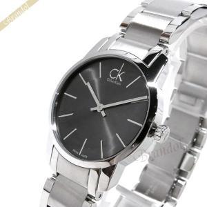 カルバンクライン Calvin Klein レディース 腕時計 シティ 31mm グレー×シルバー K2G231.61 [在庫品]|brandol