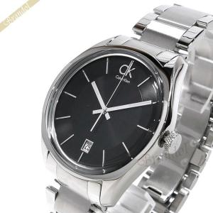 カルバンクライン Calvin Klein メンズ 腕時計 マスキュリン 42mm ブラック×シルバー K2H211.04 [在庫品]|brandol