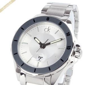 カルバンクライン Calvin Klein メンズ腕時計 CK Play CKプレイ 47mm シルバー K2W21Y46 [在庫品]|brandol