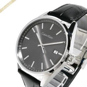 カルバンクライン Calvin Klein メンズ 腕時計 フォーマリティ 43mm ガンメタル×ブラック K4M211.C3 [在庫品]|brandol