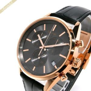 カルバンクライン Calvin Klein メンズ 腕時計 フォーマリティ クロノグラフ 43mm ガンメタル×ブラック K4M276.C3 [在庫品]|brandol