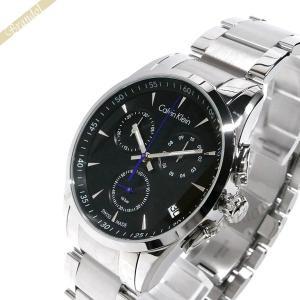 カルバンクライン Calvin Klein メンズ 腕時計 ボールド クロノグラフ 41mm ブラック×シルバー K5A271.41|brandol