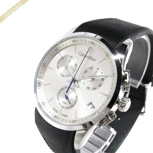 カルバンクライン Calvin Klein メンズ腕時計 ボールド クロノグラフ 41mm シルバー×ブラック K5A271.C6 [在庫品]|brandol