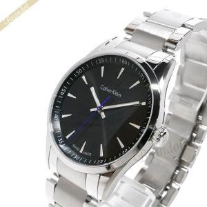 カルバンクライン Calvin Klein メンズ 腕時計 ボールド 41mm ブラック×シルバー K5A311.41|brandol