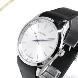 カルバンクライン Calvin Klein メンズ 腕時計 ボールド 41mm シルバー×ブラック K5A311.C6 [在庫品]|brandol