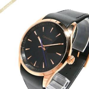 カルバンクライン Calvin Klein メンズ腕時計 ボールド 41mm ブラック×ローズゴールド K5A316.C1 [在庫品]|brandol