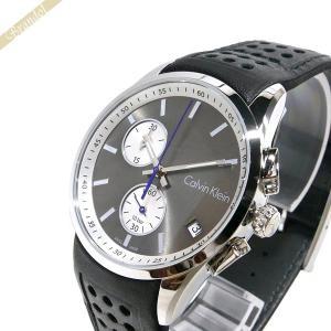 カルバンクライン Calvin Klein メンズ 腕時計 ボールド クロノグラフ 41mm グレー×ブラック K5A371.C3|brandol