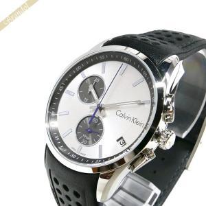カルバンクライン Calvin Klein メンズ 腕時計 ボールド クロノグラフ 41mm シルバー×ブラック K5A371.C6|brandol