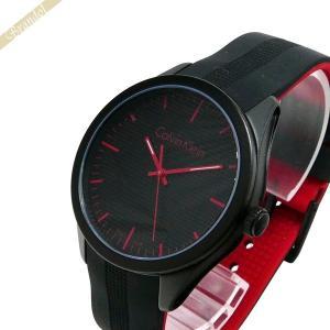 カルバンクライン Calvin Klein メンズ 腕時計 カラー 40mm ブラック×レッド K5E51TB1 [在庫品]|brandol