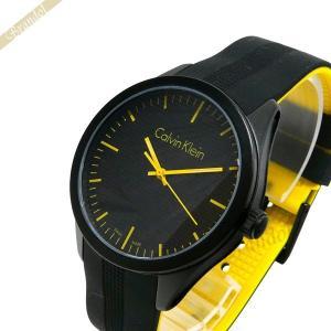 カルバンクライン Calvin Klein メンズ 腕時計 カラー 40mm ブラック×イエロー K5E51TBX [在庫品]|brandol