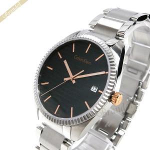 カルバンクライン Calvin Klein メンズ 腕時計 アライアンス 40m ブラック×シルバー K5R31B.41 [在庫品]|brandol