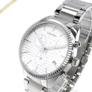 カルバンクライン Calvin Klein メンズ 腕時計 アライアンス クロノグラフ 42mm シルバー K5R371.46|brandol