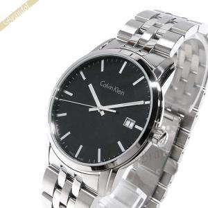 カルバンクライン Calvin Klein メンズ 腕時計 インフィニート 42mm ブラック×シルバー K5S311.41 [在庫品]|brandol