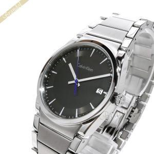 カルバンクライン Calvin Klein メンズ 腕時計 ステップ 38mm ブラック×シルバー K6K311.43 [在庫品]|brandol