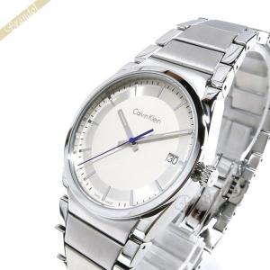 カルバンクライン Calvin Klein メンズ 腕時計 ステップ 38mm シルバー K6K311.46 [在庫品]|brandol