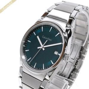 カルバンクライン Calvin Klein メンズ 腕時計 ステップ 38mm ブルーグリーン×シルバー K6K311.4L [在庫品]|brandol