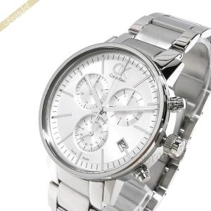 カルバンクライン Calvin Klein メンズ 腕時計 ポストミニマル クロノグラフ 42mm シルバー K76271.26 [在庫品]|brandol