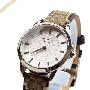 コーチ COACH レディース腕時計 クラシック シグネチャー 32mm シルバー×ブラウン 14501525 [在庫品]|brandol
