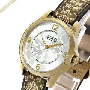 コーチ COACH レディース腕時計 クラシック シグネチャー 32mm ゴールド×ブラウン 14501613 [在庫品]|brandol