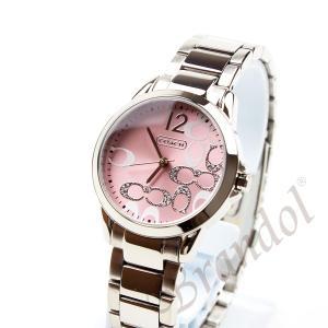 b6ae033e2203 ... コーチ COACH レディース腕時計 クラシック シグネチャー ブレスレット 32mm ピンク×シルバー 14501617 [在庫品] ...