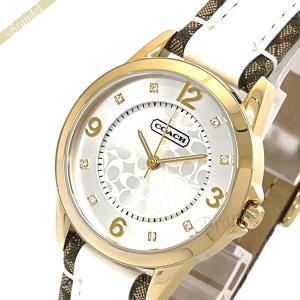 コーチ COACH レディース腕時計 シグネチャーインデックス 32mm シルバー×ゴールド 14501618 [在庫品]|brandol