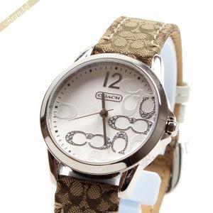 コーチ COACH レディース腕時計 ニュークラシックシグネチャー 32mm シルバー×ベージュ 14501620 [在庫品]|brandol