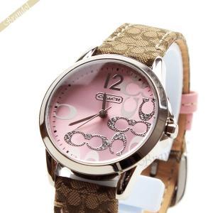 コーチ COACH レディース腕時計 クラシック シグネチャー 32mm ピンク 14501621 [在庫品]|brandol