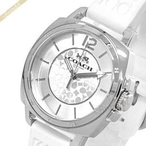 コーチ COACH レディース腕時計 ボーイフレンド ミニ 36mm シルバー×ホワイト 14502093 [在庫品]|brandol