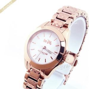 コーチ COACH レディース腕時計 トリステン ミニ ブレスレット ロゴマーク 28mm ピンクゴールド 14502185 [在庫品]|brandol