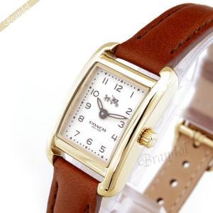 コーチ COACH レディース腕時計 トンプソン スクエア ゴールド×ブラウン 14502297 [在庫品]|brandol