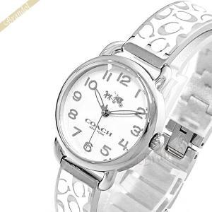 コーチ COACH レディース腕時計 デランシー バングルウォッチ 28mm シルバー×ホワイト 14502373|brandol