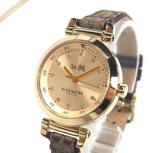 コーチ COACH レディース腕時計 1941 スポーツ シグネチャーキャンバス 30mm ゴールド×ブラウン 14502539 [在庫品]|brandol