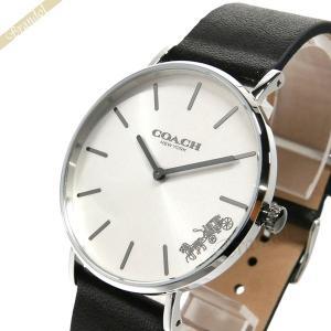 コーチ COACH レディース腕時計 Perry ペリー 馬車モチーフ 36mm シルバー×ブラック 14503115 [在庫品]|brandol