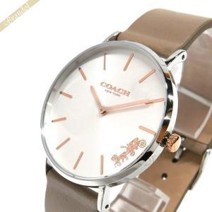 コーチ COACH レディース腕時計 Perry ペリー 36mm シルバー×グレージュ 14503119 [在庫品]|brandol