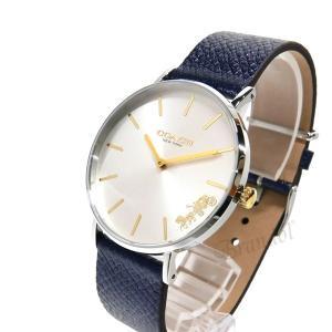 コーチ COACH レディース腕時計 Perry ペリー 馬車モチーフ メタリック ベルト 36mm シルバー×ネイビー 14503156|brandol|02