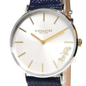 コーチ COACH レディース腕時計 Perry ペリー 馬車モチーフ メタリック ベルト 36mm シルバー×ネイビー 14503156|brandol|03