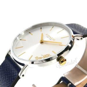 コーチ COACH レディース腕時計 Perry ペリー 馬車モチーフ メタリック ベルト 36mm シルバー×ネイビー 14503156|brandol|04