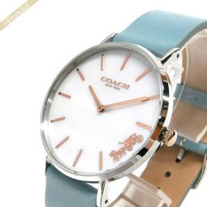 コーチ COACH レディース腕時計 Perry ペリー 36mm ホワイトパール×ライトブルー 14503271 [在庫品]|brandol