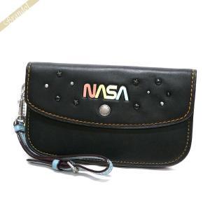 コーチ COACH レディース クラッチバッグ NASA レザー リストレット ブラック F10833 LHBLK 【コーチアウトレット】 [在庫品]|brandol