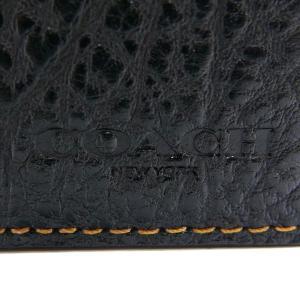 コーチ COACH メンズ 二つ折り財布 レザー ブラック F11989 BLK 【コーチアウトレット】 [在庫品]|brandol|05