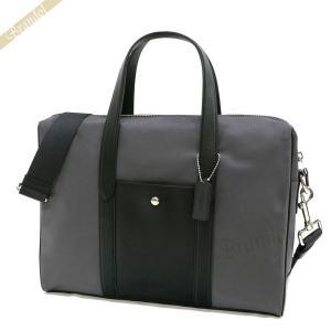 コーチ COACH メンズ ビジネスバッグ ナイロン ビジネストート グレー×ブラック F21087 NIMFP 【コーチアウトレット】 [在庫品]|brandol
