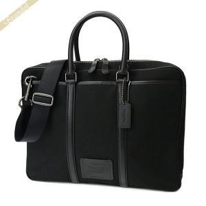 コーチ COACH メンズ ビジネスバッグ 2wayショルダーバッグ ブラック F23808 QBLWO 【コーチアウトレット】 [在庫品] brandol