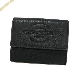 コーチ COACH メンズ 小銭入れ ロゴ レザー コインケース カードケース ブラック F24652 BLK 【コーチアウトレット】 [在庫品]|brandol