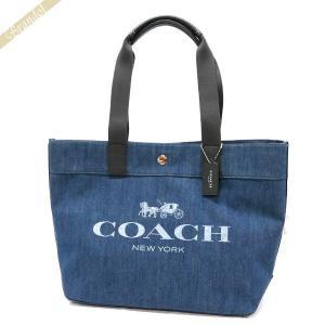 コーチ COACH レディース トートバッグ ロゴ キャンバストート ブルー系 F25902 SV/DE 【コーチアウトレット】 [在庫品]|brandol