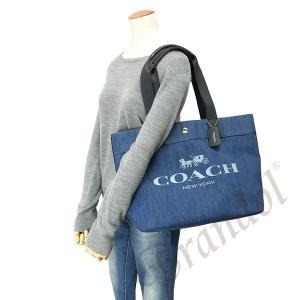 ccf900b39000 ... コーチ COACH レディース トートバッグ ロゴ キャンバストート ブルー系 F25902 SV/DE 【コーチ ...