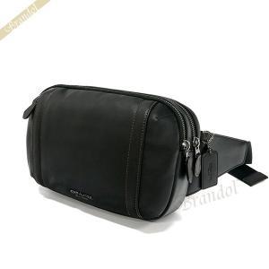 コーチ COACH メンズ ボディバッグ レザー ウェストポーチ ブラック F37594 QB/BK 【コーチアウトレット】 [在庫品]|brandol