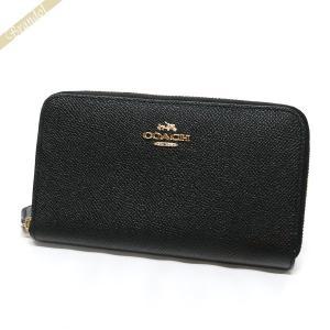 コーチ COACH 財布 レディース 二つ折り財布 ラウンドファスナー ミディアム レザー ブラック F53981 LIBLK [在庫品]|brandol