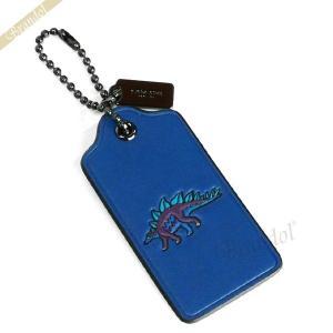 コーチ COACH レディース キーホルダー ステギー ハングタグ レザー ブルー F55846 SVLCP 【コーチアウトレット】[在庫品]|brandol