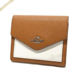 コーチ COACH 財布 レディース 三つ折り財布 スモール カラーブロック レザー ブラウン系 F59007 SVMQ7 [在庫品]|brandol